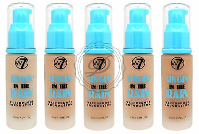 W7 Singin' In The Rain Liquid Foundation - Waterproof - Choose From 5 Coverage