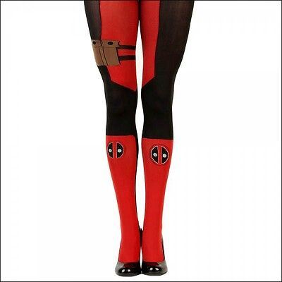 5c93a54f32 Marvel Comics Deadpool Suit Up Cosplay Costume Knee High Tights Socks  OFFICIAL