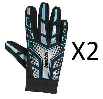 Franklin Sports Youth-Junior Receiver-Receiving Football Gloves-Large (2-Pack)