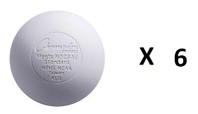 Champion Lacrosse Ball Official NFHS NCAA Massage Therapy-WHITE (6-Pack)