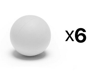 Champion Sports Soft Sponge Safe Indoor Practice Lacrosse Ball, White (6-Pack)