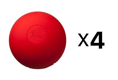 Champion Sports NCAA/NFHS Official Size Rubber Lacrosse Ball, Red (4-Pack)