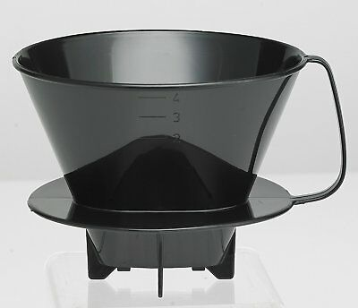HIC Plastic Coffee Filter Cone #4 for Pour Over Coffee Brewing