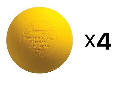 Champion Lacrosse Ball Official NFHS NCAA Massage Therapy-YELLOW (4-Pack)