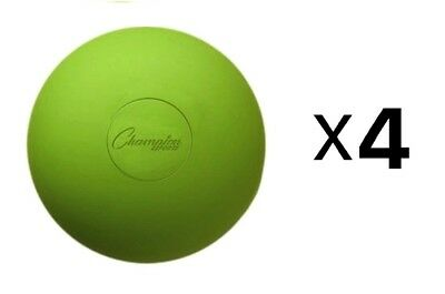Champion Lacrosse Ball Official NFHS NCAA Massage Therapy-GREEN (4-Pack)