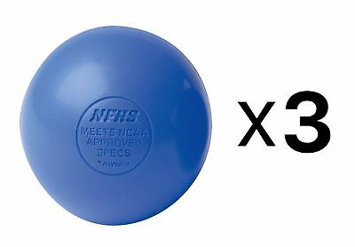 Champion Lacrosse Ball Official NFHS NCAA Massage Therapy-BLUE (3-Pack)