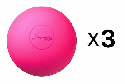 Champion Lacrosse Ball Official NFHS NCAA Massage Therapy-PINK 3-pack