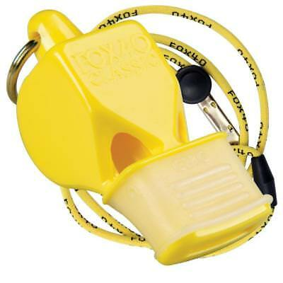 Fox 40 Classic CMG Whistle With Lanyard Referee-Coach, Safety Alert-Yellow
