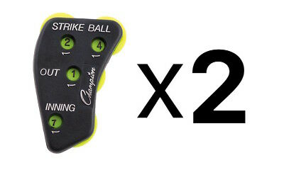 Champion 4 Dial Baseball Softball Umpire Indicator Score Keeper Durable (2-Pack)