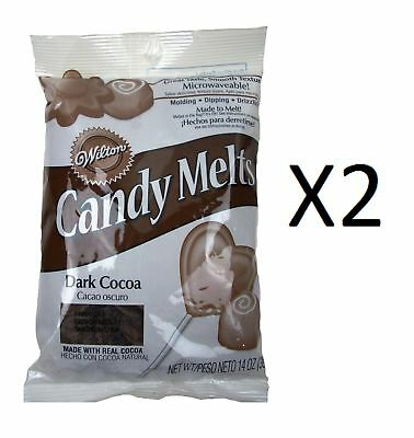 Wilton Candy Melts/Wafers 12 oz Dark Cocoa Flavored Candy Supplies (2-Pack)