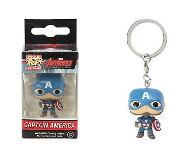 Funko Pocket Pop Keychain Marvel Avengers Age Of Ultron: Captain America Figure