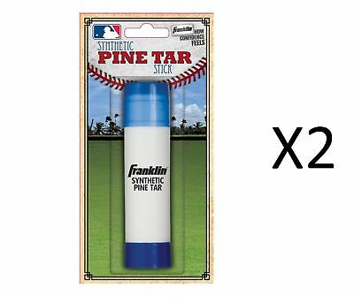 Franklin MLB Baseball Batters Pine Tar Stick Durable Heavy Duty Grip (2-Pack)