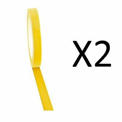 """Champion Sports Vinyl Floor Tape 1/2"""" x 36yd, Yellow For Boundary Lines (2-Pack)"""