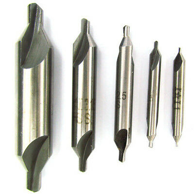 5PCS PREMIUM M42 8% COBALT CENTER DRILLS BIT SETs No1, 2,3,4,5