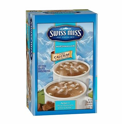 Swiss Miss Hot Cocoa Mix Milk Chocolate 60 Sachets Rich & Creamy MADE IN USA