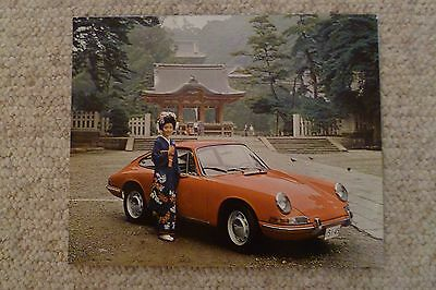 1966 Porsche 911 / 912 Coupe Showroom Advertising Sales Poster RARE Awesome L@@K