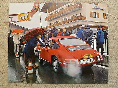 1966 Porsche 912 Coupe Showroom Advertising Sales Poster RARE Awesome L@@K