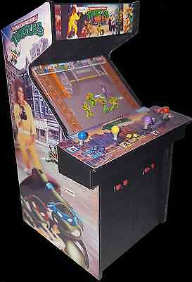 Mini Teenage Mutant Ninja Turtles (TMNT) Arcade 4 Player Arcade Cabinet Display