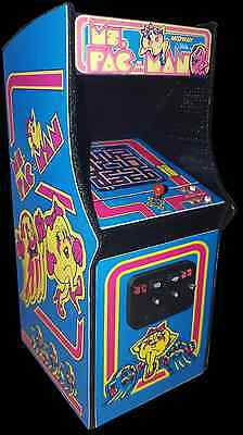 Mini Ms. Pac-Man Arcade Cabinet Collectible Display (Not a Machine)