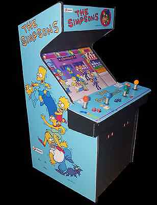 Mini Simpsons The Arcade Game 4 Player Arcade Collectible Cabinet Display