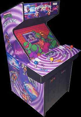 Mini Teenage Mutant Ninja Turtles In Time (TMNT) Arcade Cabinet Display