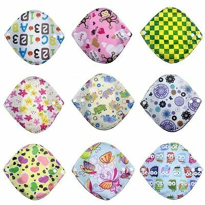 New Reusable Washable Bamboo Fiber Cloth Menstrual Sanitary Maternity Pads Minky