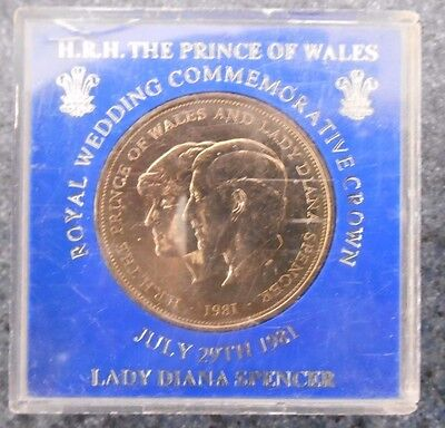 "1981 Great Britain   "" Royal Wedding "" Crown Uncirculated Coin Perspex Case"