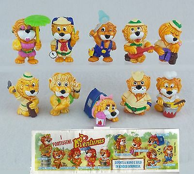 Kinder Ferrero Surprise Figure E Cartine Serie Leoventuras Lions Adventure Rar