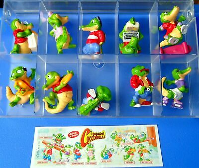 Kinder Ferrero Surprise Figure E Cartine Serie Coccobulli City Crocos Adventure