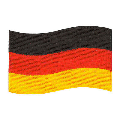 "Germany Flag German Embroidered Iron-On Patch Size 3"" Jacket Jeans Beanie Hat"