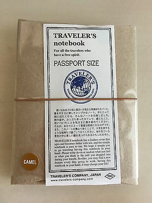 Midori Traveler s Notebook Leather Cover Camel Passport size -Plus One Refill