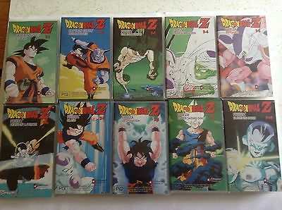 10 Dragonball Z Vhs Videos - Collection Lot!