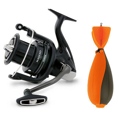 Shimano NEW Fishing Aerlex 10000 XTB Spod Reel + Fox TT Large Impact Spod
