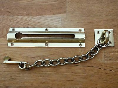 """large Front Door Brass Security Chain"" Knobs Handles Knocker  Lock Bolt"