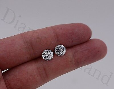 2.5 Ct Round Brilliant Cut Martini 14k Solid White Gold Solitaire Stud Earrings