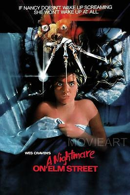 A Nightmare On Elm Street Vintage Movie Poster Film A4 A3 Art Print Cinema