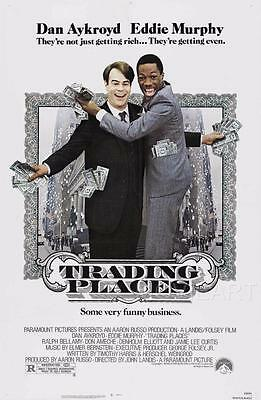 Trading Places Movie Poster Film A4 A3 Art Print Cinema