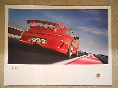 2009 Porsche 911 GT3 Coupe Showroom Advertising Sales Poster RARE!! Awesome L@@K