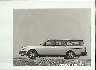 Volvo 240 Glt Original Press Photo - Brochure Related