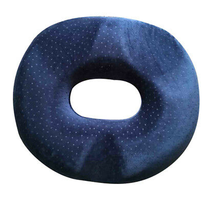Pressure Relief Donut Washable Cover Haemorrhoids Piles Ring Cushion Blue