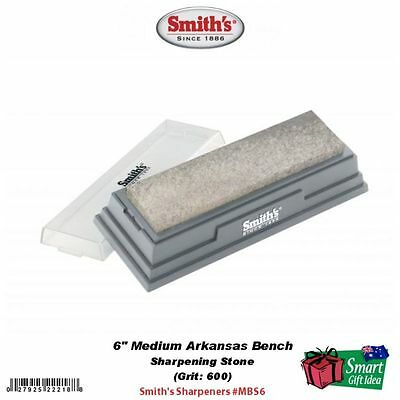 "Smith's Abrasives Arkansas Stone, 6"" Medium 600 Grit #MBS6"