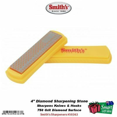 "Smith's Abrasives Sharpening Stone w/Cover, 4"" Diamond #50363"
