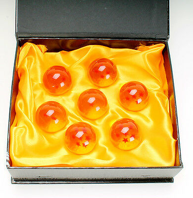 Dragonball Dragon Ball Z Acrylic 7x Crystal Star Balls Collection Set w/Gift Box
