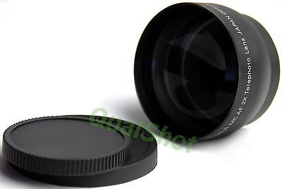 52mm High Def 2X Telephoto Tele Converter Lens for Nikon D50