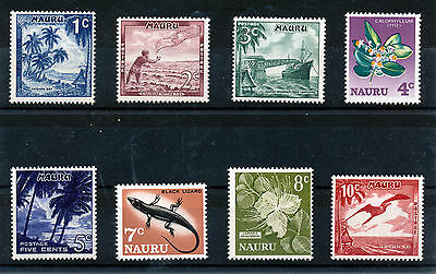 Nauru 1966 Definitives Sg66/73  Mnh