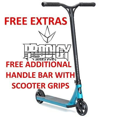 2017 ENVY Prodigy S5 Complete Scooter SMOKE BLUE + FREE SCOOTER STAND & GRIPS