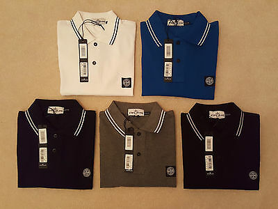 Stone Island Mens Regular Fit Short Sleeve Polo In - Black Blue Grey Navy White