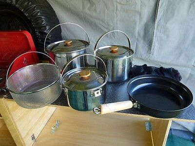 New Snow Peak Large Cook Set Outdoor Camp Stainless Steel Pot & Pan
