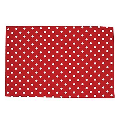 Belle Polka Red White Dots Tea Towel - 100% Cotton - Made in the UK