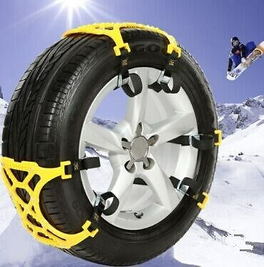 1pc Car Snow Tire Anti-skid Chains Beef Tendon Wheel Antiskid TPU Chain
